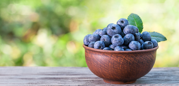 ramekin of blueberries