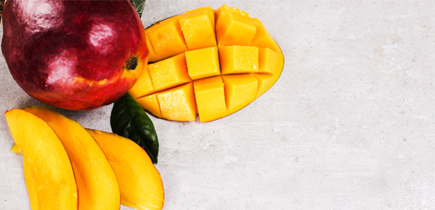 whole and chopped mango